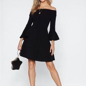 Black Off The Shoulder Cocktail Dress